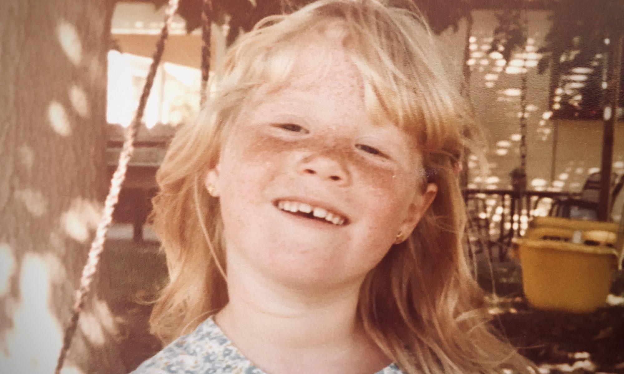 Anna in 1981, age 6, in her backyard.